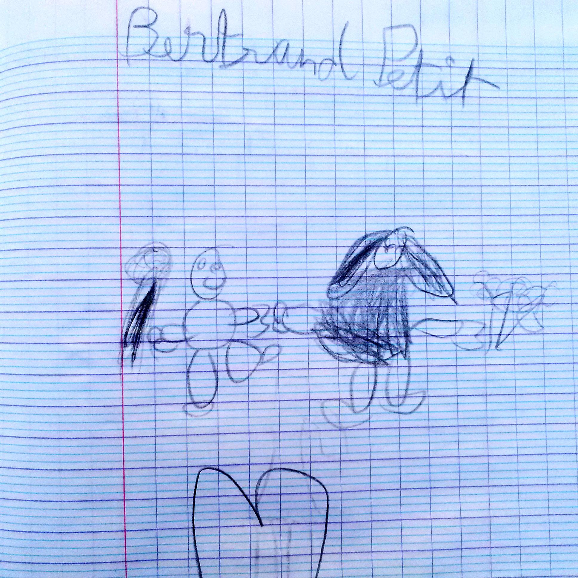 le dessin de Bertrand